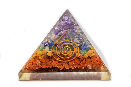 7 Chakra Orgonite Pyramid