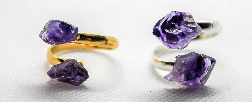Raw Gemstone Rings