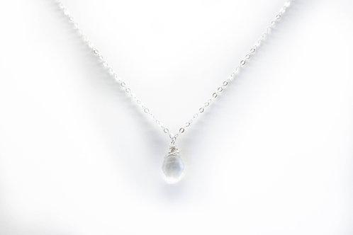 Clear Quartz Dainty Necklace