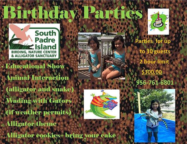 Birthday Parties_Birding Center gators 2