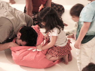 sessão com famílias