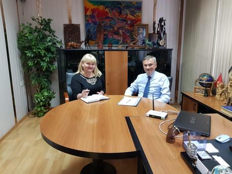 Встреча с Ректором Института Международной торговли и права Гаврюшиным Олегом Юрьевичем