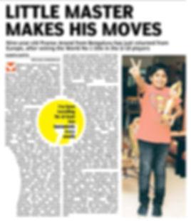 Pranav world no 1 Under 10 list