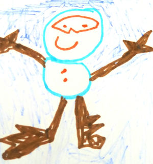 Child's drawing of happy person