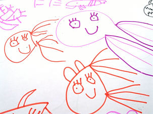 Child's drawing of fish