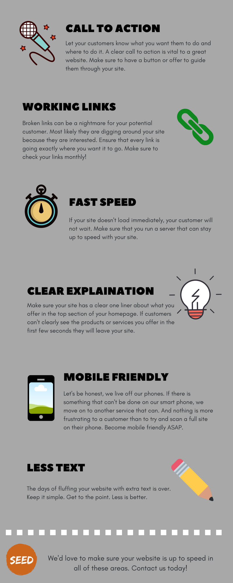 6 Tips for a website