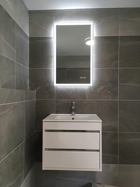 Wall hung Basin & LED Framed Mirror