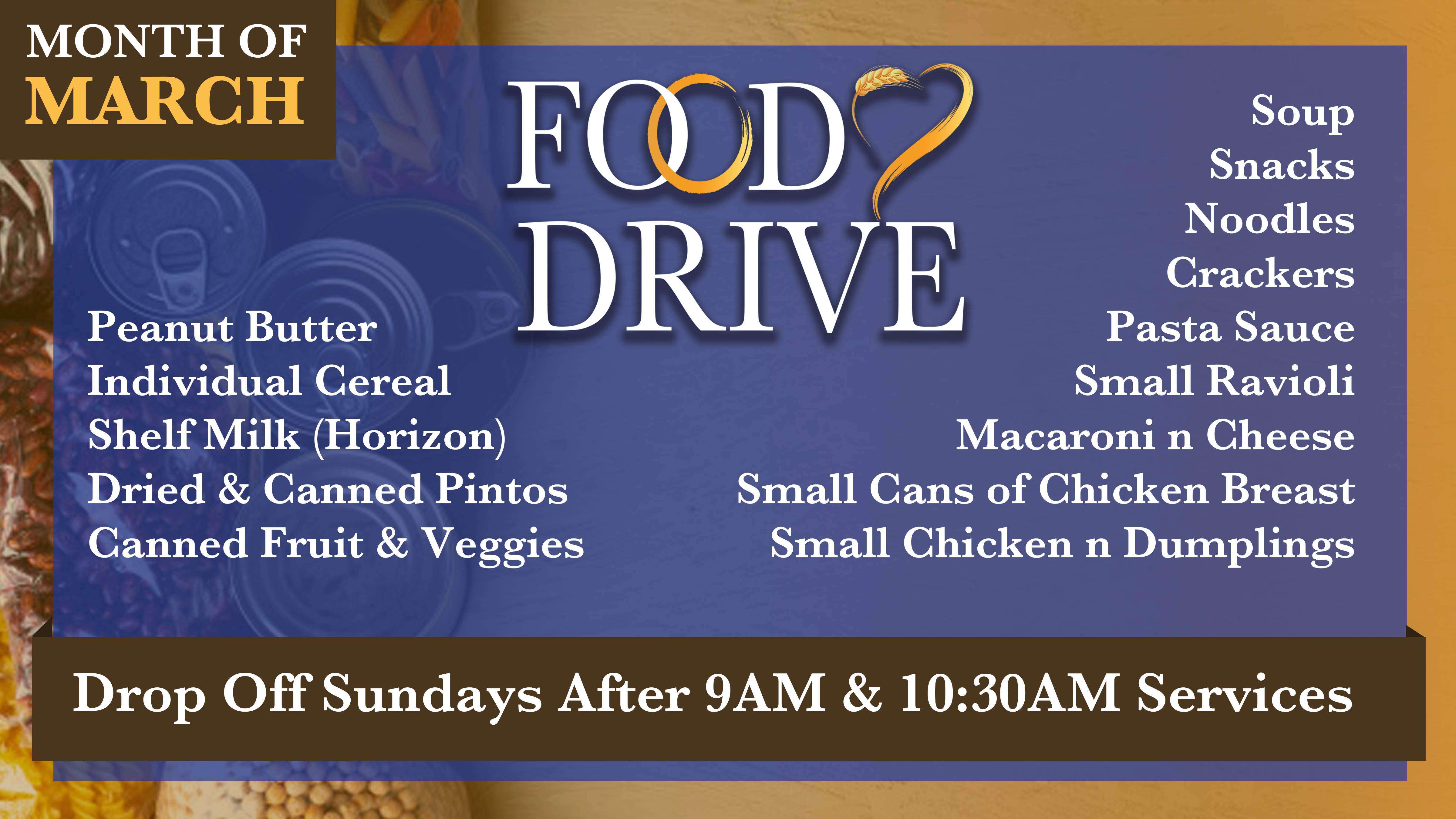 March 2021Food Drive