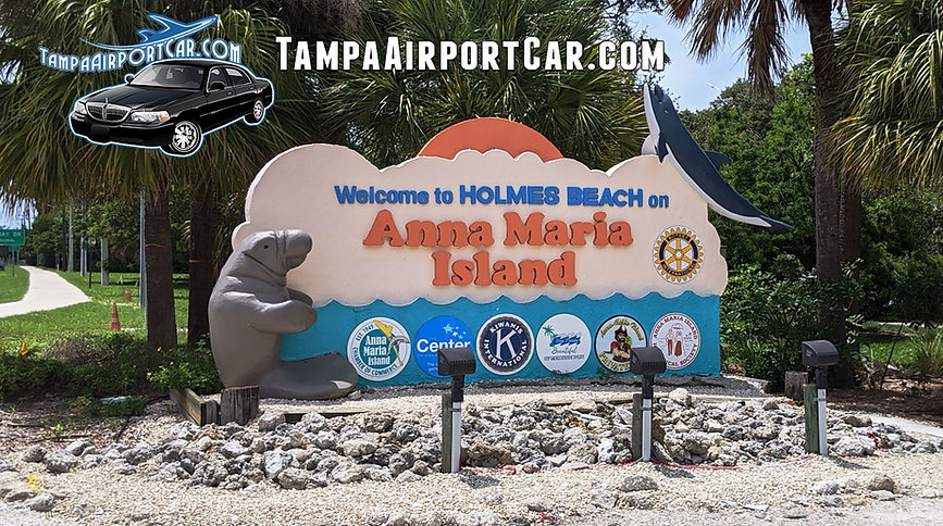 Car service to Anna Maria Island from TPA. Tampa Airport to Anna Maria Island FL.