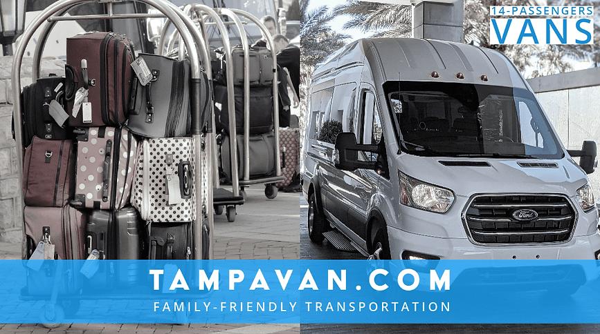 14-Passengers Van Service in Tampa Bay, FL.