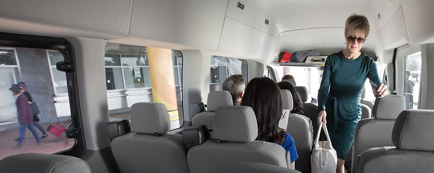 Interior of 14-Passengers Van in Tampa Bay, FL.