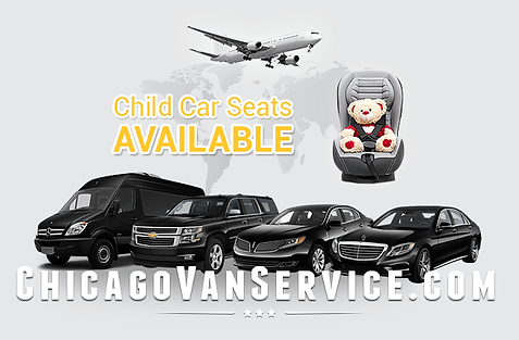 Chicago airport van transfers. O'Hare. Midway.