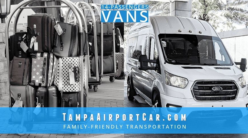 Tampa airport car service. Family-Friendly Tampa airport transportation.