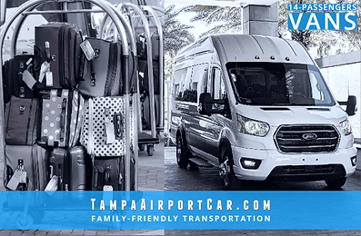Book a van service to Tampa Airport.