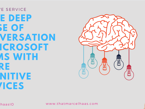 Conversations analytics in Microsoft Teams with Azure Cognitive Services