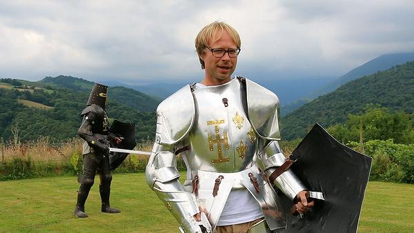 Robin Bennett in a Knight Costume