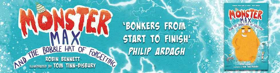 Promotional Banner for Monster Max and the Bobble Hat of Forgetting
