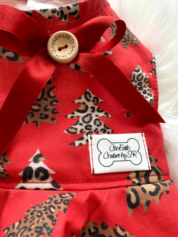 Leopard Trees Christmas Dress