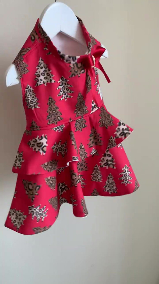 Leopard Trees Christmas Dress