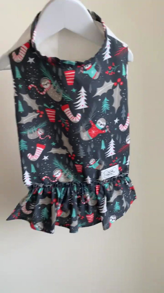 Sloth Holidays Christmas Dress