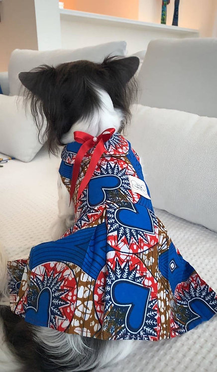African print pleated Dresses