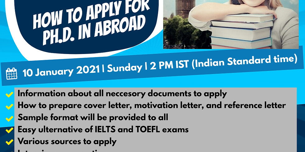 """ONLINE TUTORIAL SESSION on """"How to apply for Ph.D. in abroad"""""""