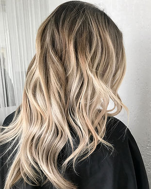 Hairstyle ombre color .Highlight hair.jp