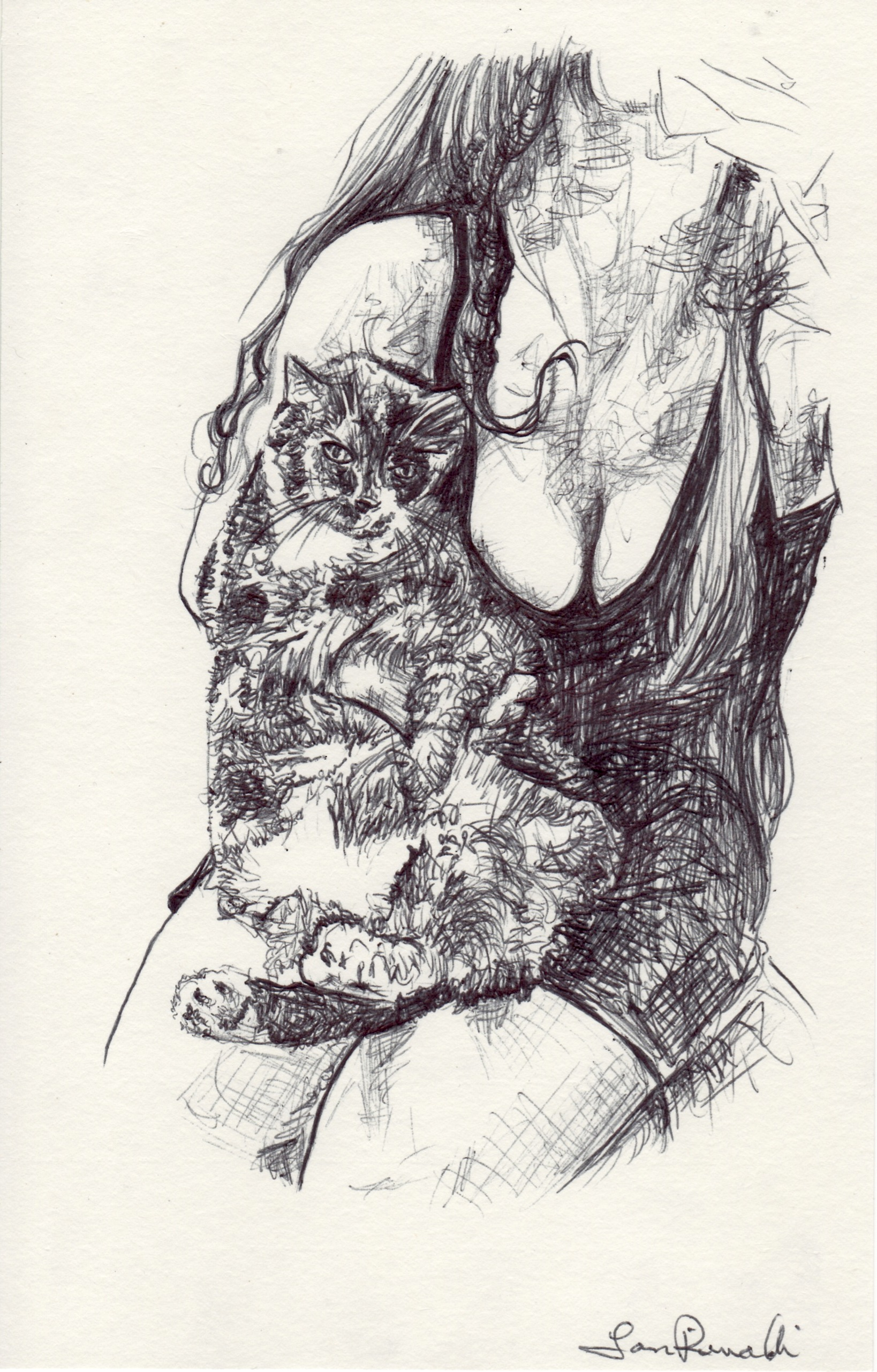 A Lady and Her Cat