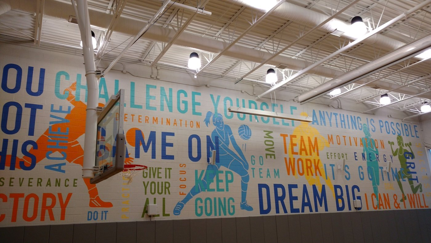 Bancroft School Gym Mural