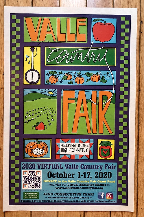 Official 2020 Valle Country Fair Poster