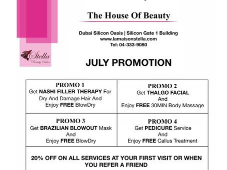 Enjoy July Promotions!