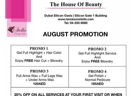 Enjoy August Promotions!