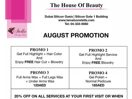 Enjoy August Promotions!