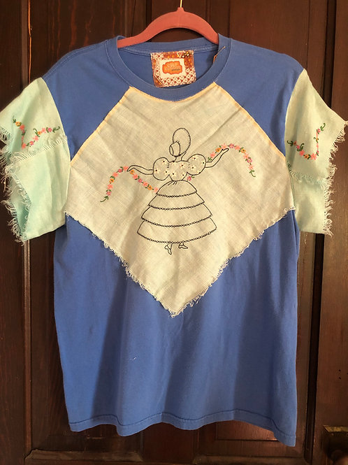 Embroidered Lady - Napkin Tee