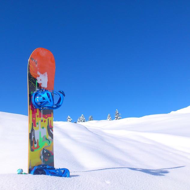 Snowboard sur neige
