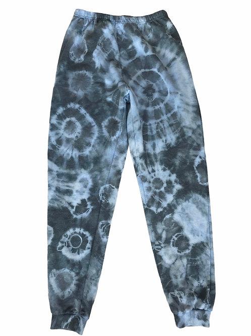 Ocean tie dye high waisted joggers
