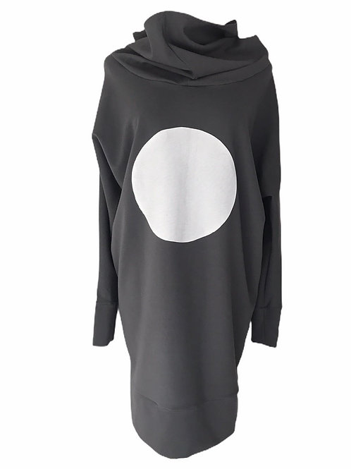 1 Dot Hoodie Dress.