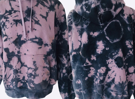 Galaxy shibori hoodie