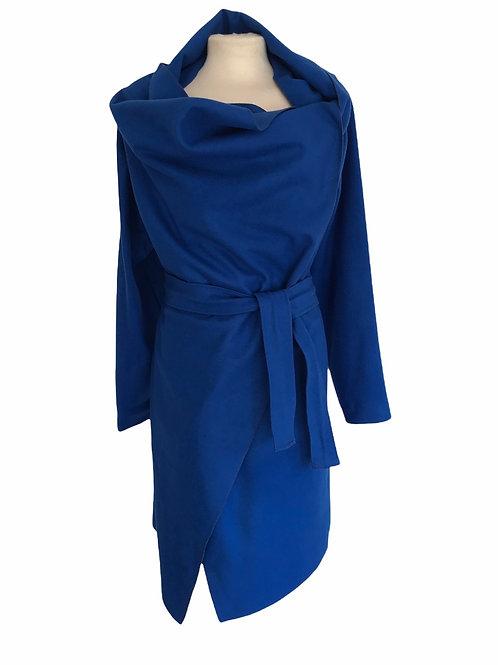 Wool drape coat