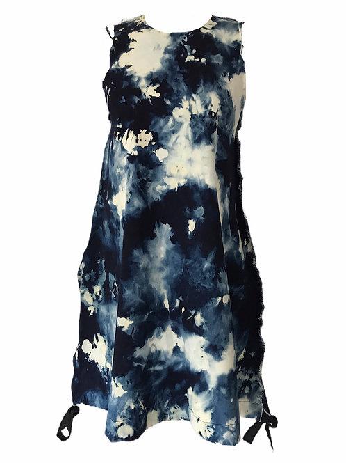 Denim short parachute dress