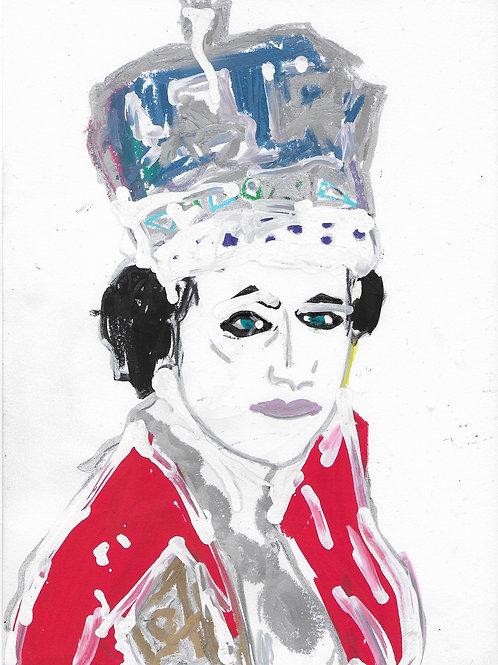 Queen Elizabeth 2 Drawing