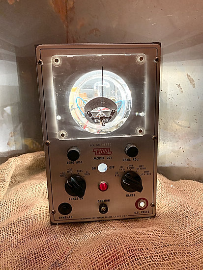 1960's Electrical Multimeter Desk/Table Lamp