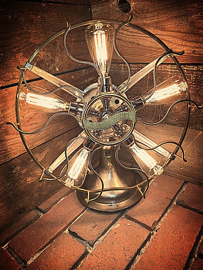 1912 Westinghouse, Rotating Fan, Table Lamp