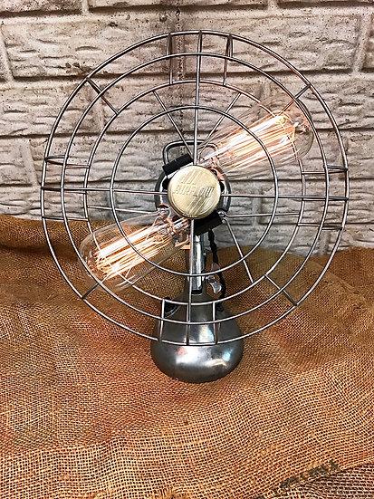 Vintage Airflow Fan Turned Table Lamp