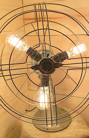 Mid Century Rotating GE Fan