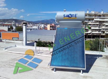 Ηλιακός Sante SP II 160/2.5, μέσω «Εξοικονομώ Κατ' Οίκον», στο Ίλιον