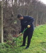Maintaining the outdoor areas at Belvue College