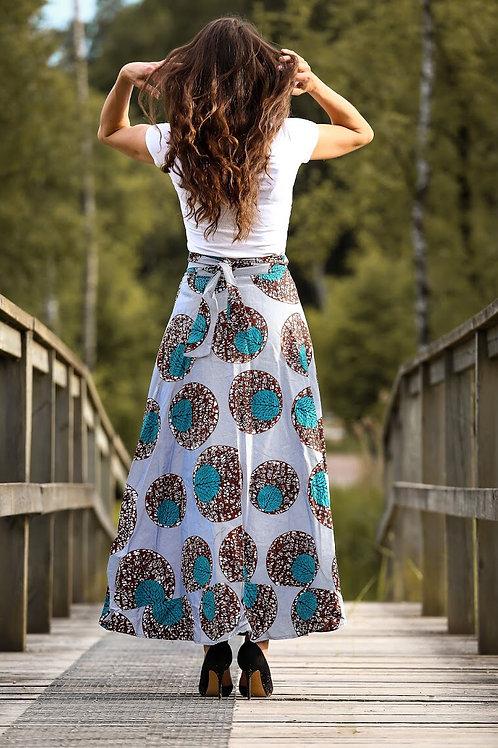 Fancy maxi wrap skirt