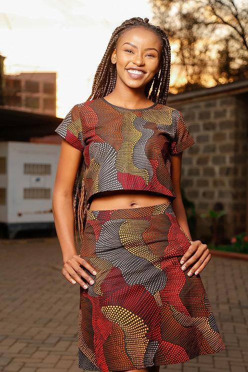 Nzima Skirt Suit (brown)