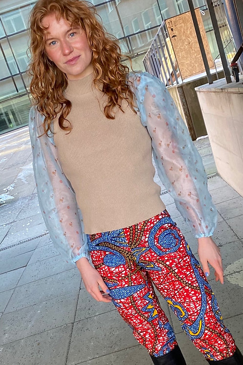 Sassy Skinny Trousers (red&blue)